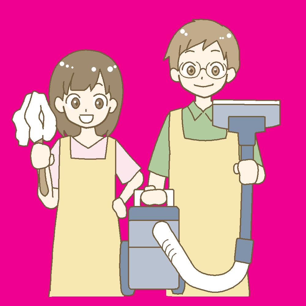 夫婦で大掃除